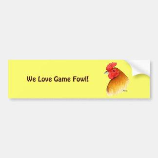 Gamecock Stag Pea Comb Bumper Sticker