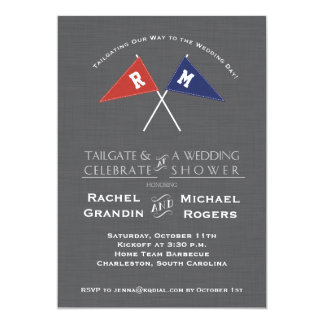 Gameday Football Team Pennants Shower Invitation