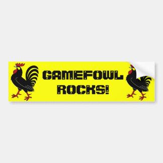 Gamefowl Rocks! Bumper Sticker