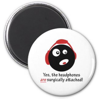 GameFYi Headphones Surgically Attached 6 Cm Round Magnet