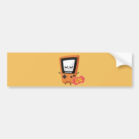 GameGirl Orange bumper sticker
