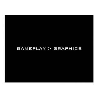 Gameplay > Graphics. Black White. Postcard