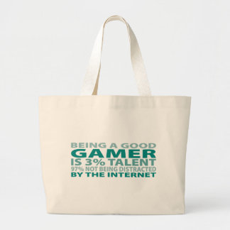 Gamer 3% Talent Jumbo Tote Bag