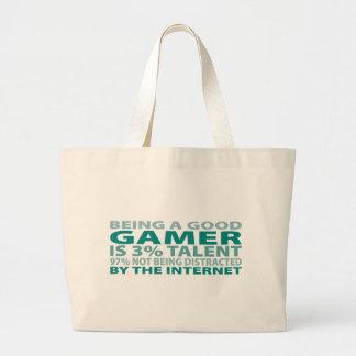Gamer 3% Talent Jumbo Tote Bag