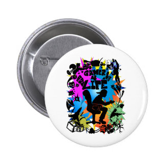 Gamer 4 Life 6 Cm Round Badge