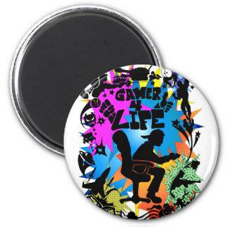 Gamer 4 Life 6 Cm Round Magnet