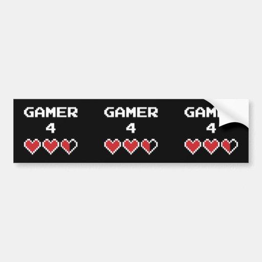 Gamer 4 Life Bumper Sticker