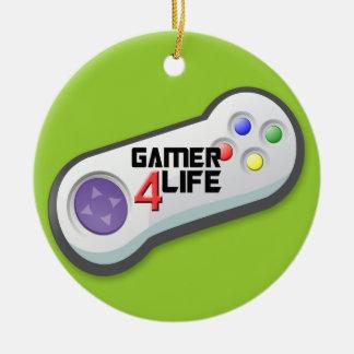 Gamer 4 Life Christmas Ornament