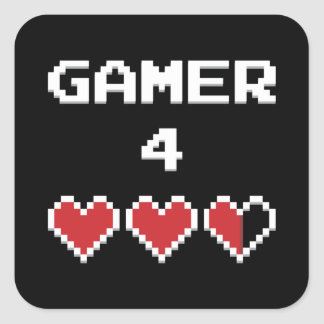 Gamer 4 Life Square Sticker