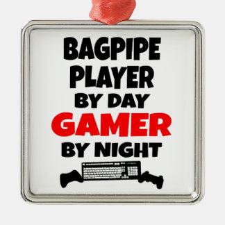 Gamer Bagpipe Player Christmas Ornament