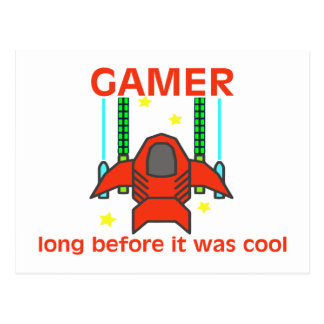 Gamer Before It Was Cool Retro Style Postcard