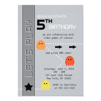 Gamer Birthday 13 Cm X 18 Cm Invitation Card