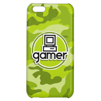 Gamer bright green camo camouflage cover for iPhone 5C