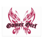 Gamer Butterfly Postcard