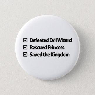 Gamer Checklist 6 Cm Round Badge