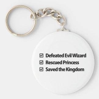 Gamer Checklist Key Ring