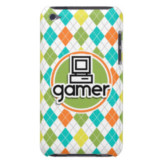 Gamer; Colorful Argyle Pattern Barely There iPod Cases