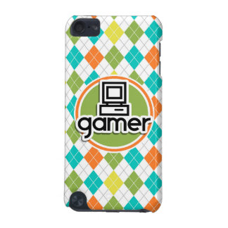Gamer; Colorful Argyle Pattern iPod Touch (5th Generation) Cover