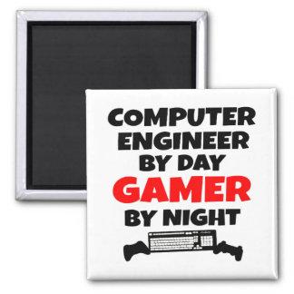Gamer Computer Engineer Square Magnet