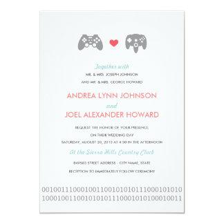 Gamer Controller Love Wedding 13 Cm X 18 Cm Invitation Card