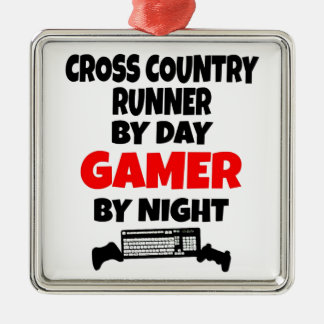 Gamer Cross Country Runner Christmas Ornament