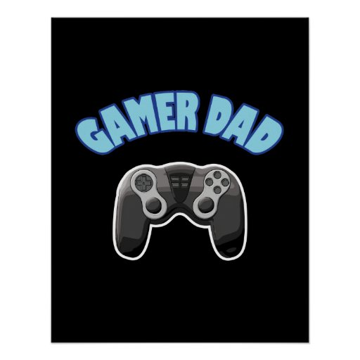 Gamer Dad - Controller Poster