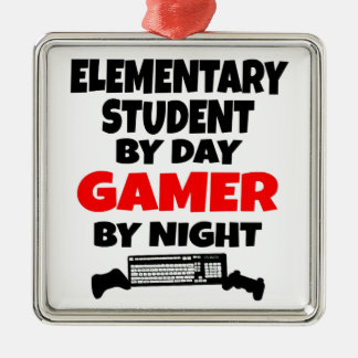 Gamer Elementary School Student Christmas Ornament
