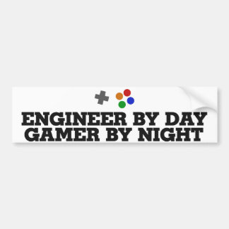 Gamer engineer bumper sticker