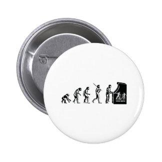 Gamer Evolution - Game Video Games Arcade Geek 6 Cm Round Badge
