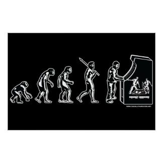 Gamer Evolution Poster - Video Games Gaming Arcade