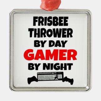 Gamer Frisbee Thrower Christmas Ornament