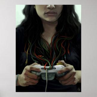 Gamer Girl (poster/print) Poster