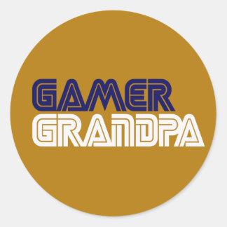 Gamer Grandpa Stickers