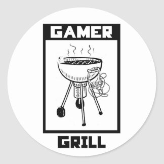 Gamer Grill Sticker - Gaming Accessory
