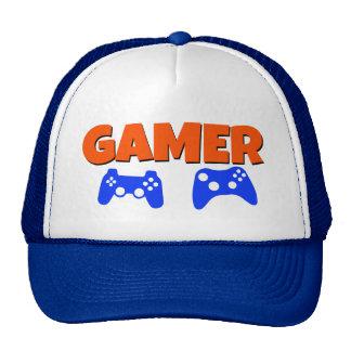 Gamer Hat Blue and Orange