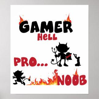 Gamer hell poster