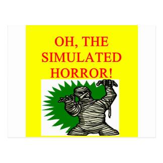 gamer horror postcard