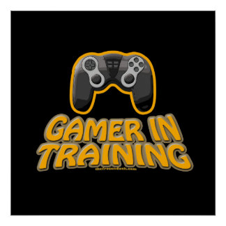 Gamer In Trainiing - Controller Poster