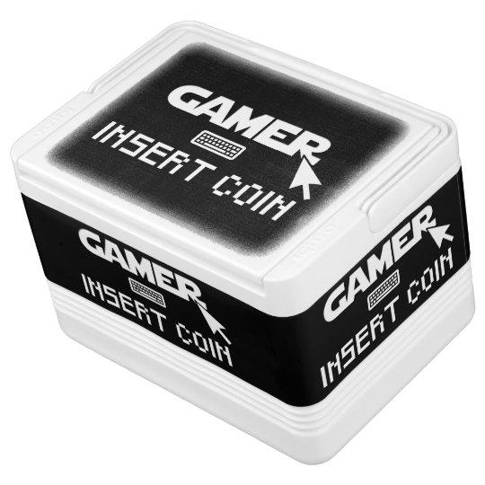 Gamer insert coin igloo cool box