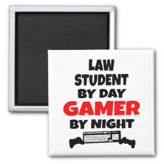 Gamer Law Student Square Magnet