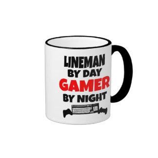 Gamer Lineman Coffee Mugs