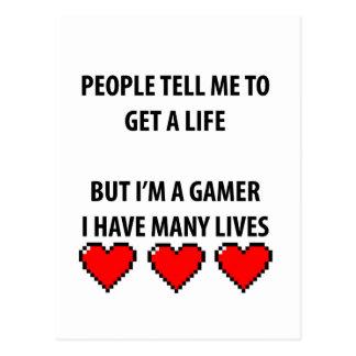 Gamer Lives Postcard