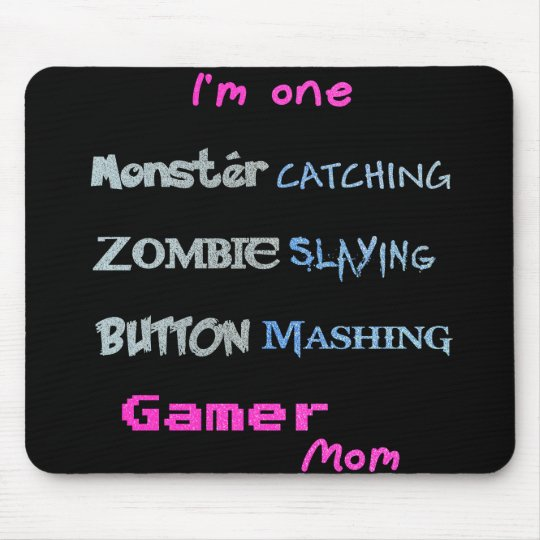 Gamer Mum (glittery text edition) Mouse Pad