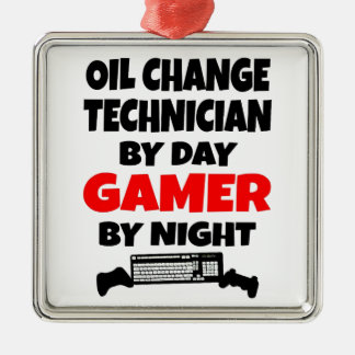 Gamer Oil Change Technician Christmas Ornament