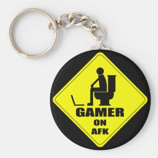 Gamer on AFK series Basic Round Button Key Ring