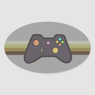 Gamer Oval Sticker
