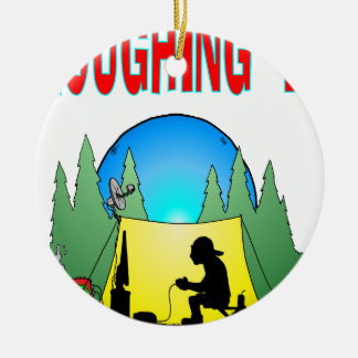 Gamer Roughing It Christmas Tree Ornament