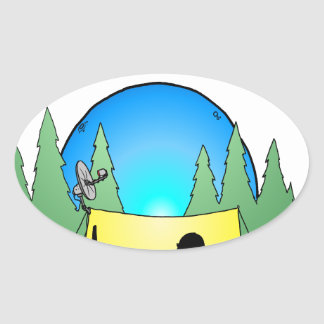 Gamer Roughing It Oval Stickers