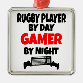 Gamer Rugby Player Christmas Ornament