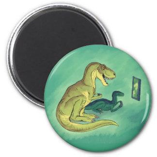 Gamer-Saurus 6 Cm Round Magnet